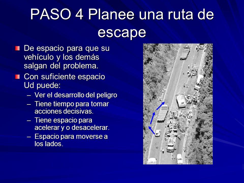 PASO 4 Planee una ruta de escape