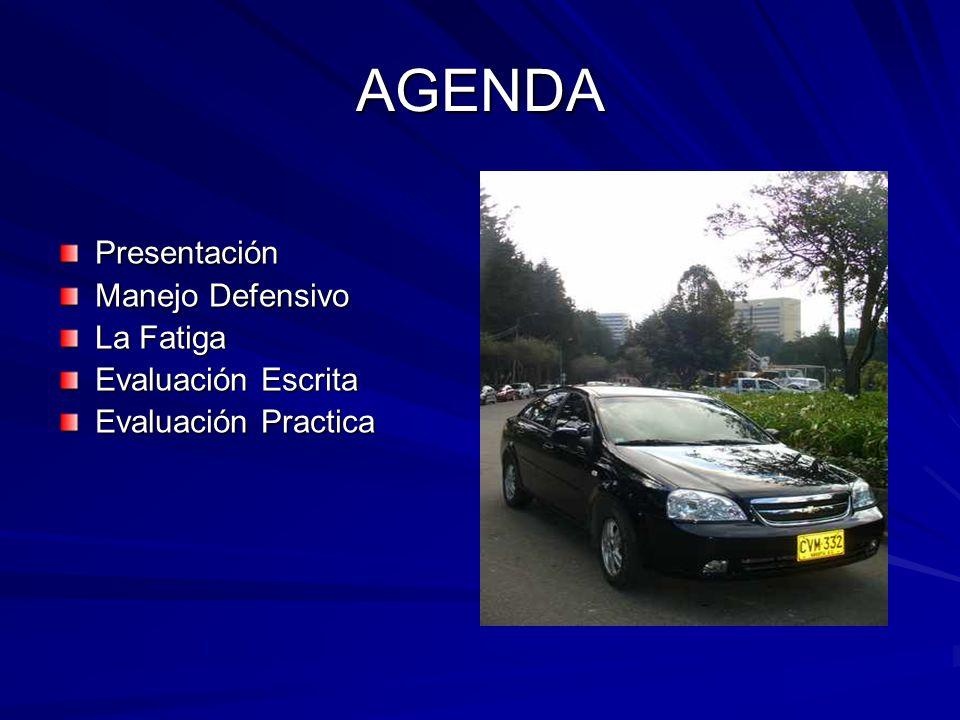 AGENDA Presentación Manejo Defensivo La Fatiga Evaluación Escrita