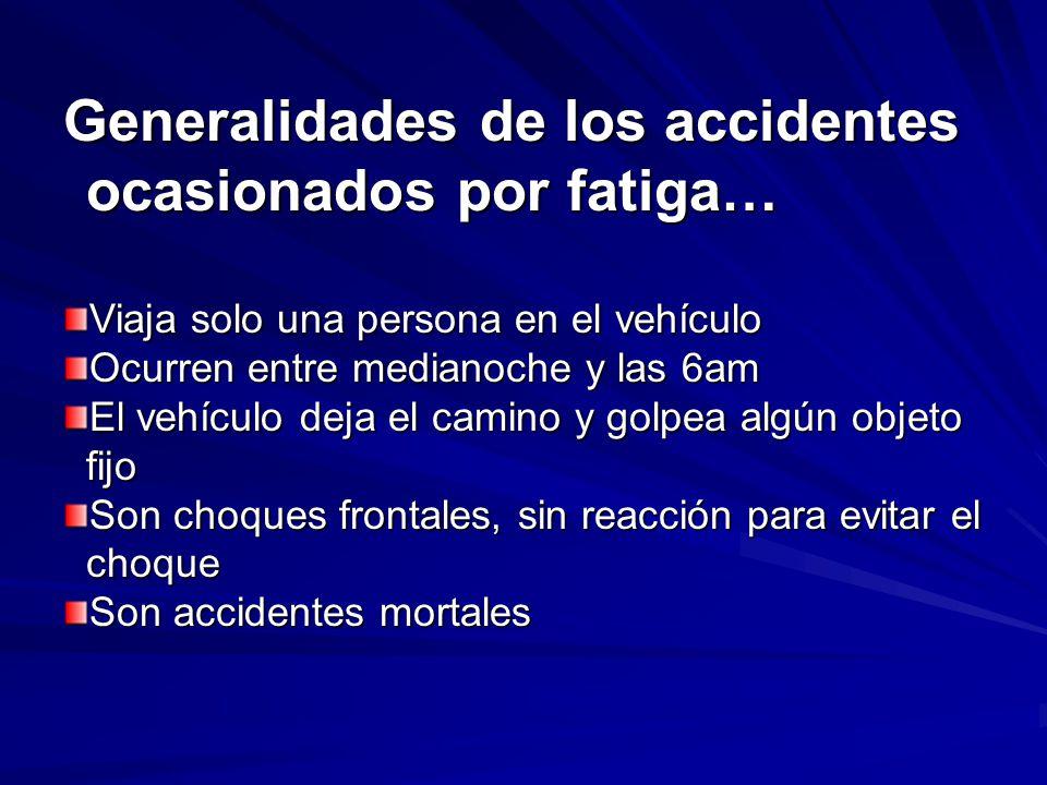 Generalidades de los accidentes ocasionados por fatiga…