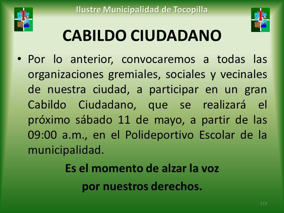 Ilustre Municipalidad de Tocopilla Es el momento de alzar la voz
