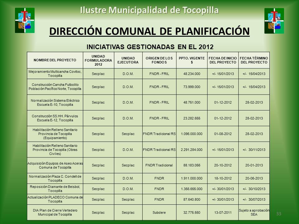 DIRECCIÓN COMUNAL DE PLANIFICACIÓN