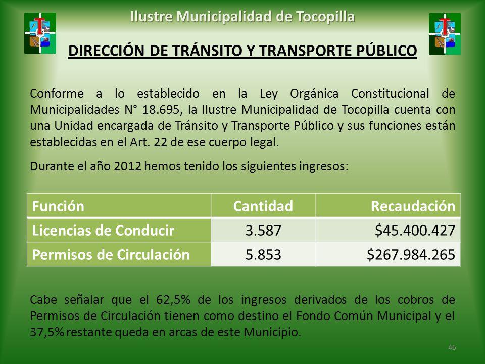 DIRECCIÓN DE TRÁNSITO Y TRANSPORTE PÚBLICO