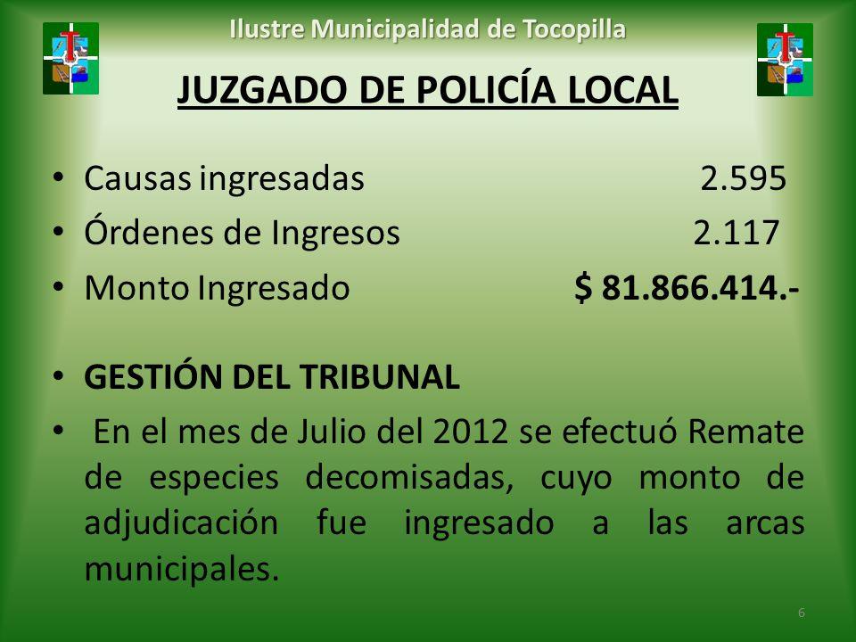 JUZGADO DE POLICÍA LOCAL
