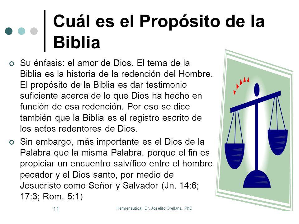Cuál es el Propósito de la Biblia