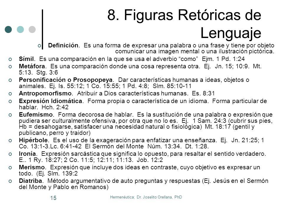 8. Figuras Retóricas de Lenguaje