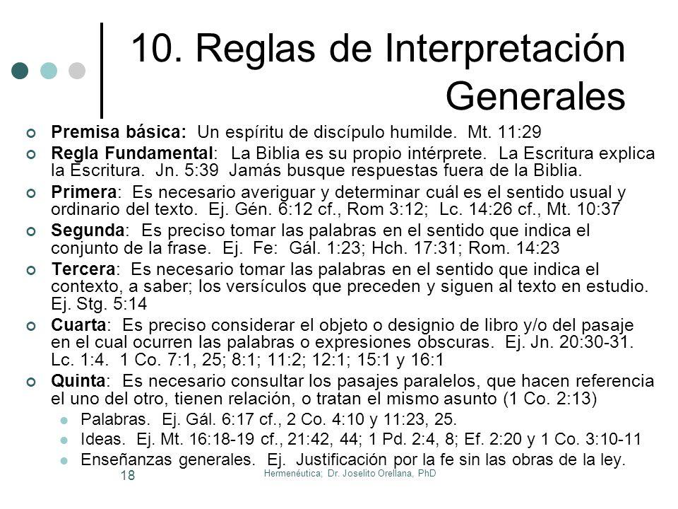 10. Reglas de Interpretación Generales