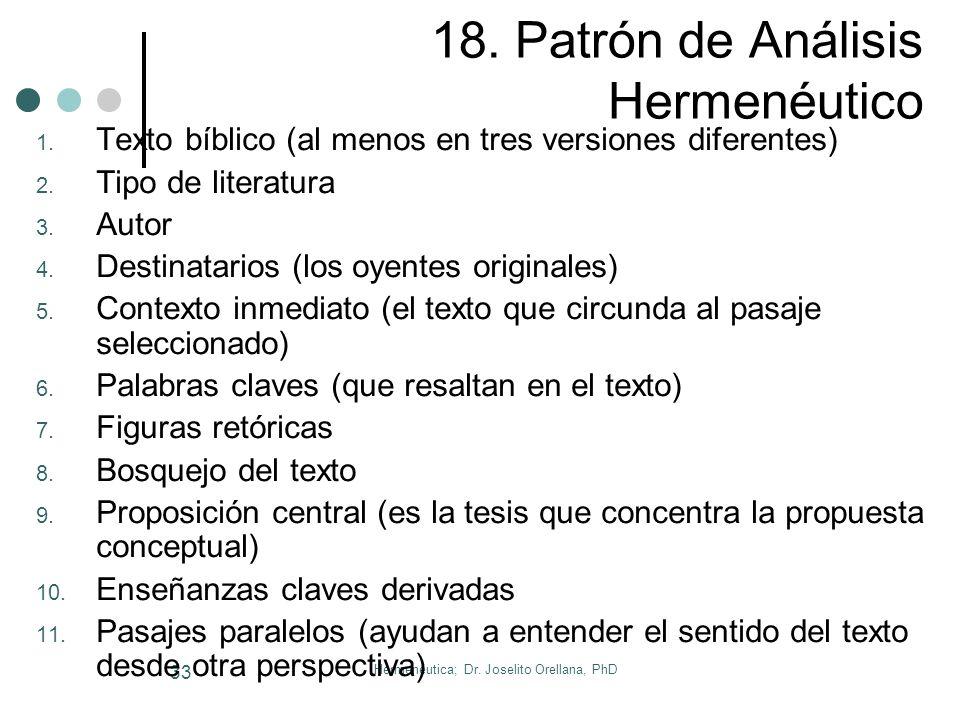 18. Patrón de Análisis Hermenéutico