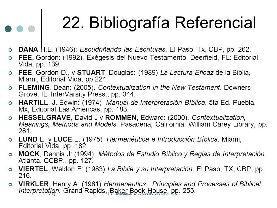 22. Bibliografía Referencial
