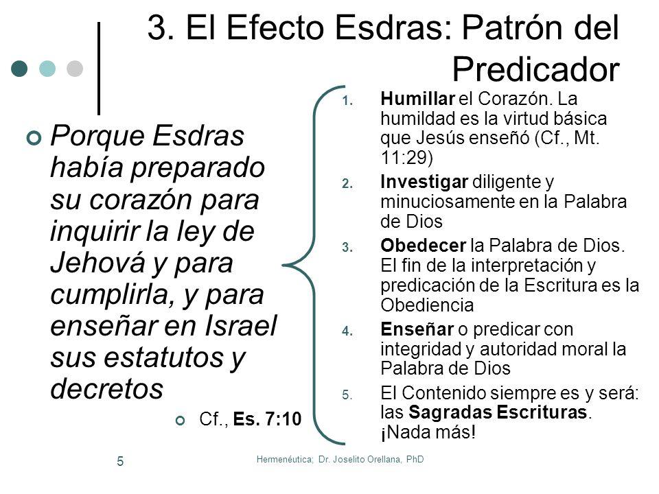 3. El Efecto Esdras: Patrón del Predicador