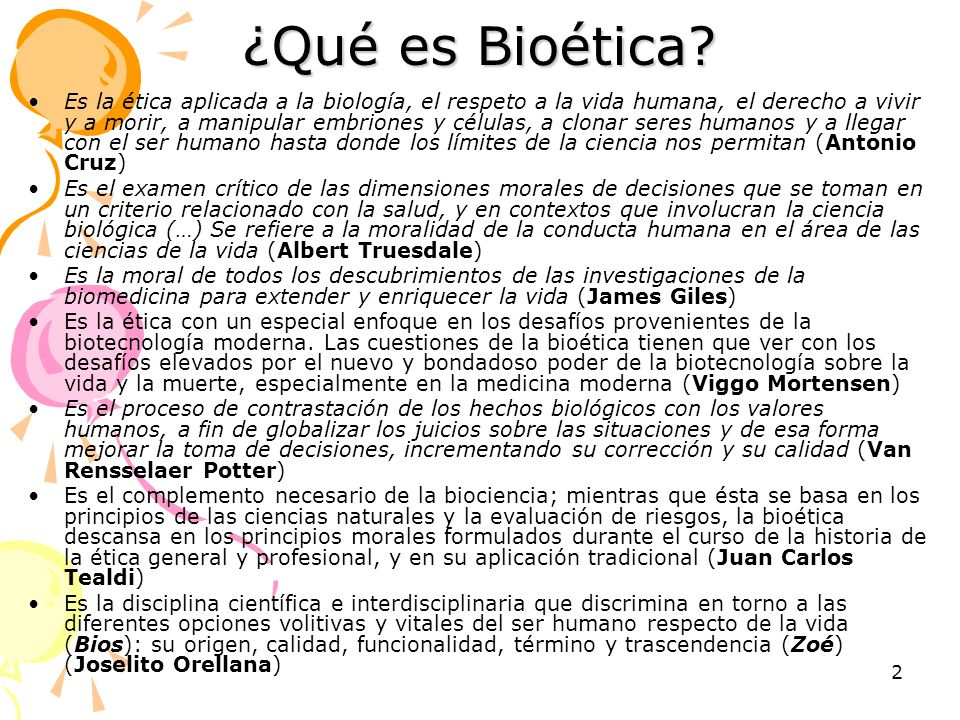 ¿Qué es Bioética