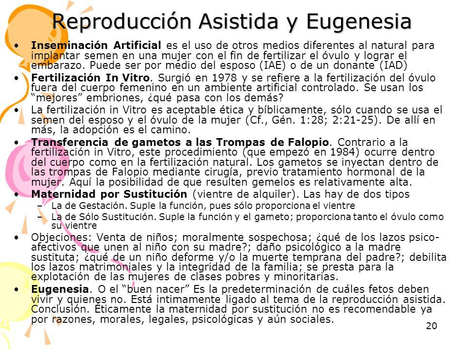 Reproducción Asistida y Eugenesia