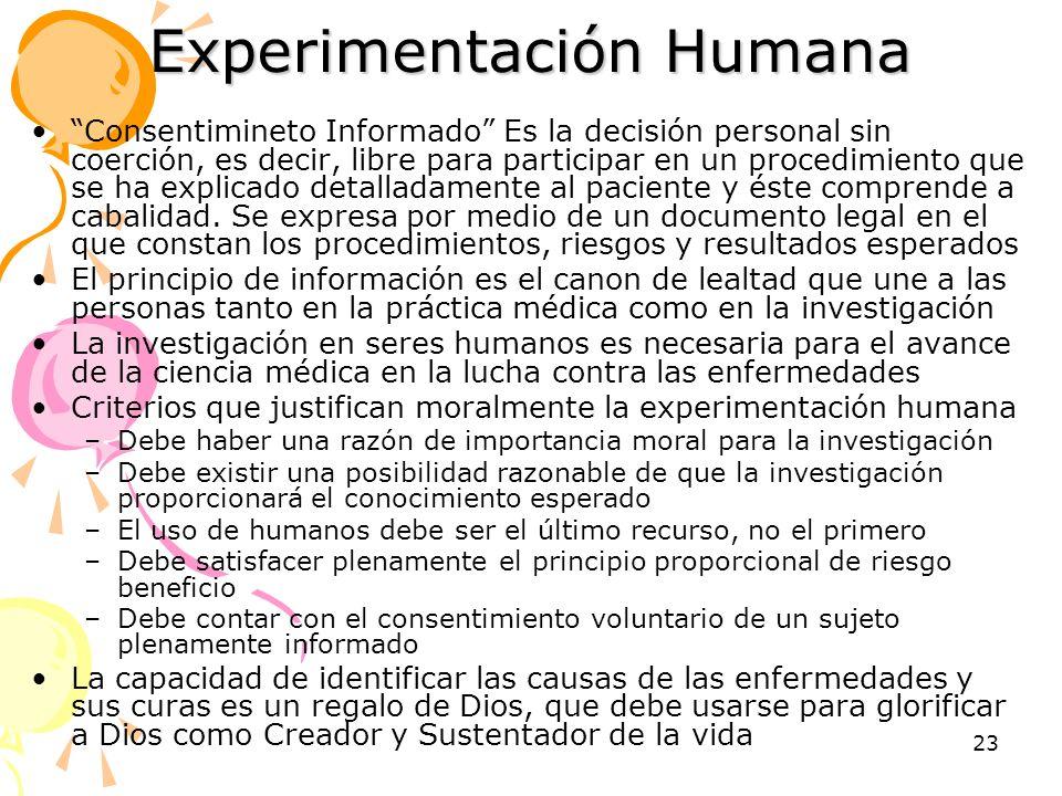 Experimentación Humana