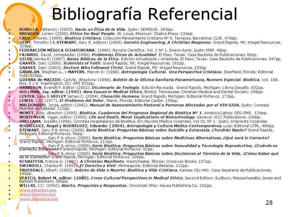 Bibliografía Referencial