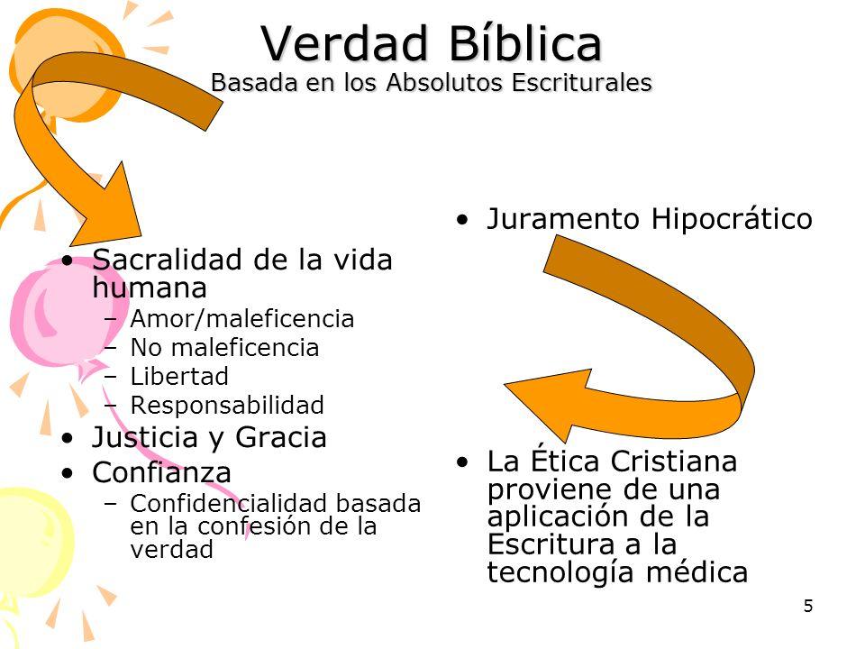 Verdad Bíblica Basada en los Absolutos Escriturales