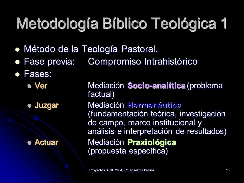 Metodología Bíblico Teológica 1