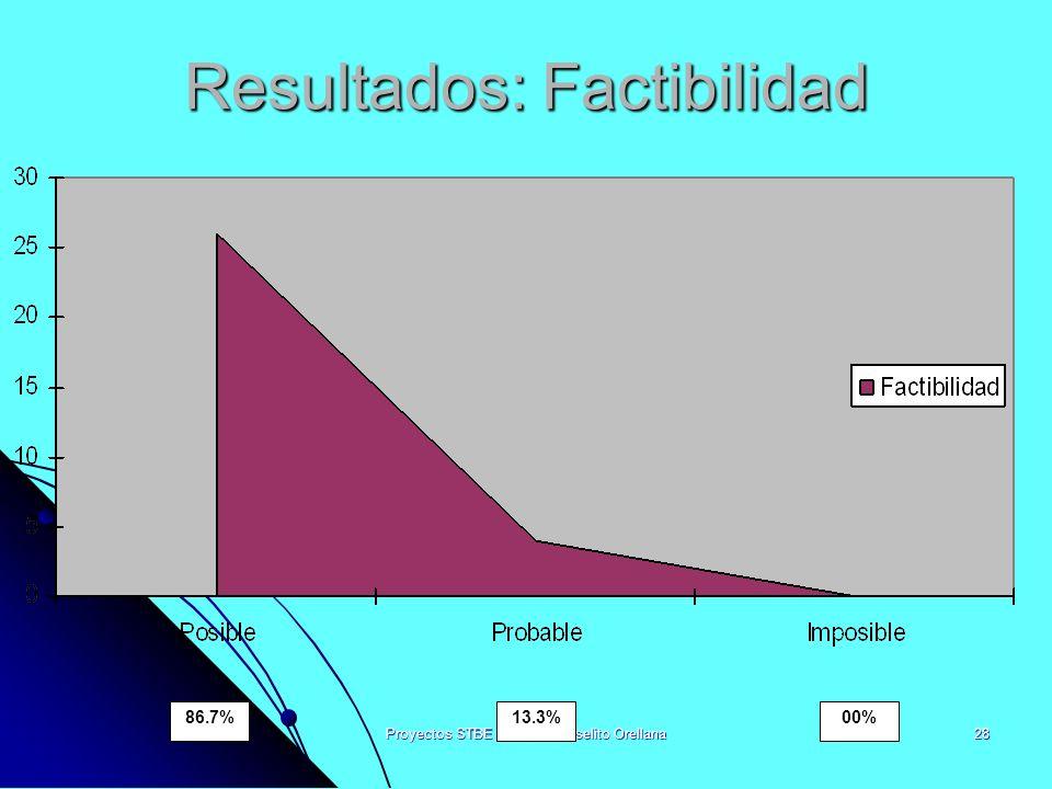 Resultados: Factibilidad