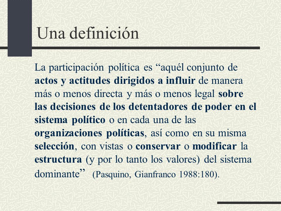 Una definición