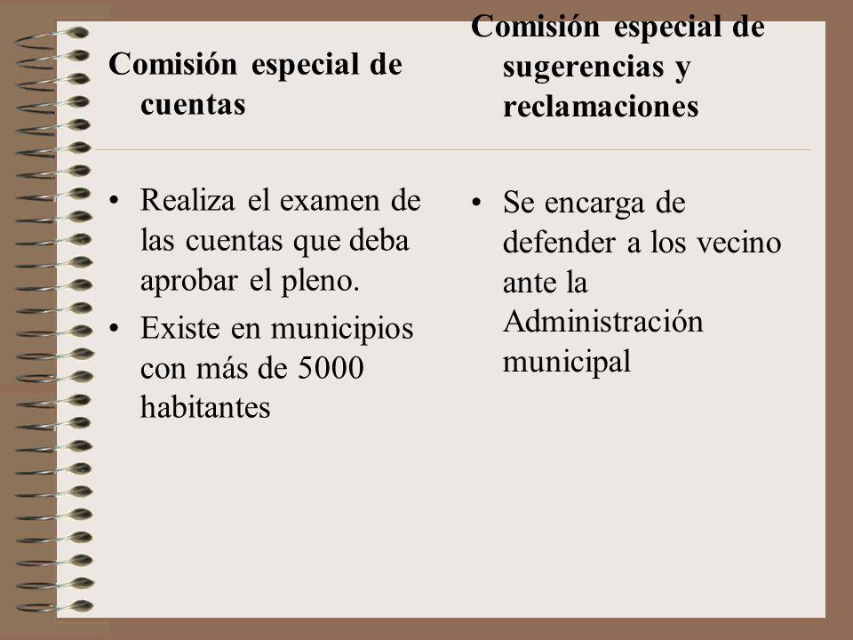 Comisión especial de sugerencias y reclamaciones