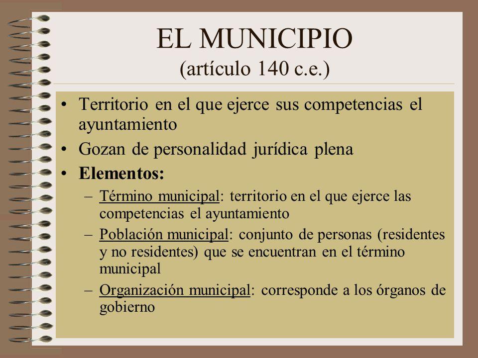 EL MUNICIPIO (artículo 140 c.e.)