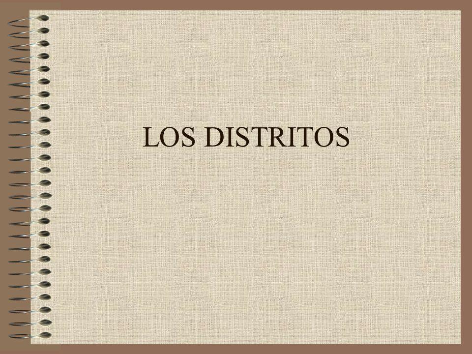 LOS DISTRITOS