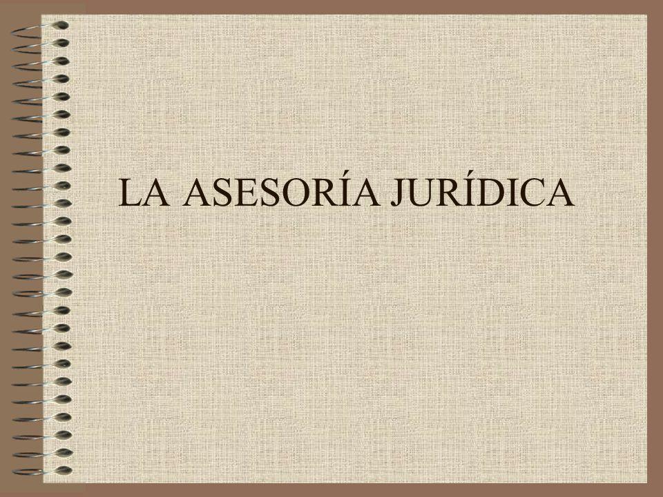 LA ASESORÍA JURÍDICA