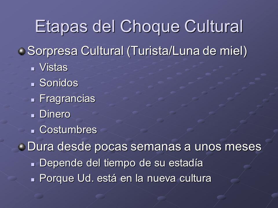 Etapas del Choque Cultural