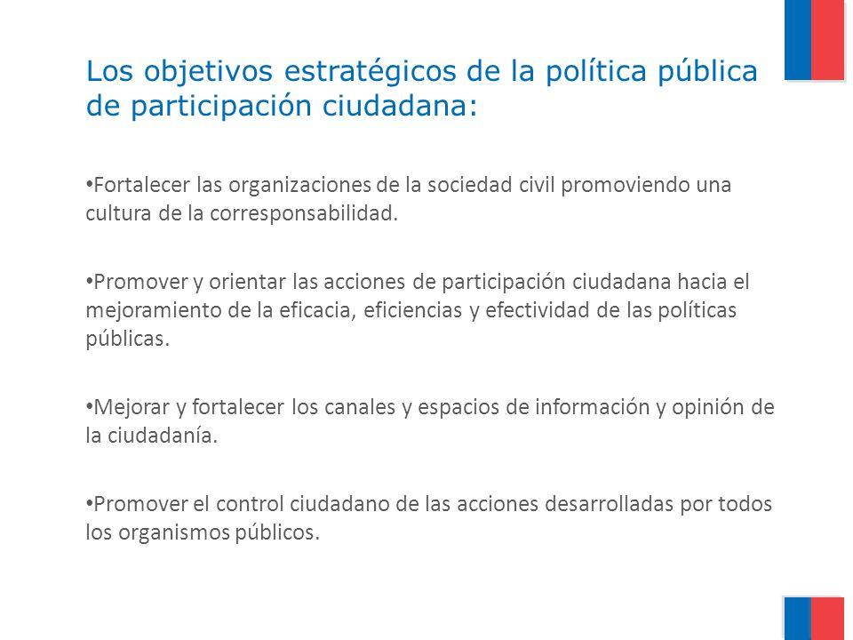 Los objetivos estratégicos de la política pública de participación ciudadana: