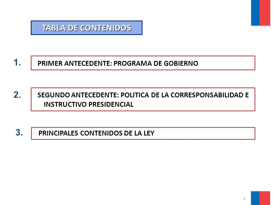 PRIMER ANTECEDENTE: PROGRAMA DE GOBIERNO