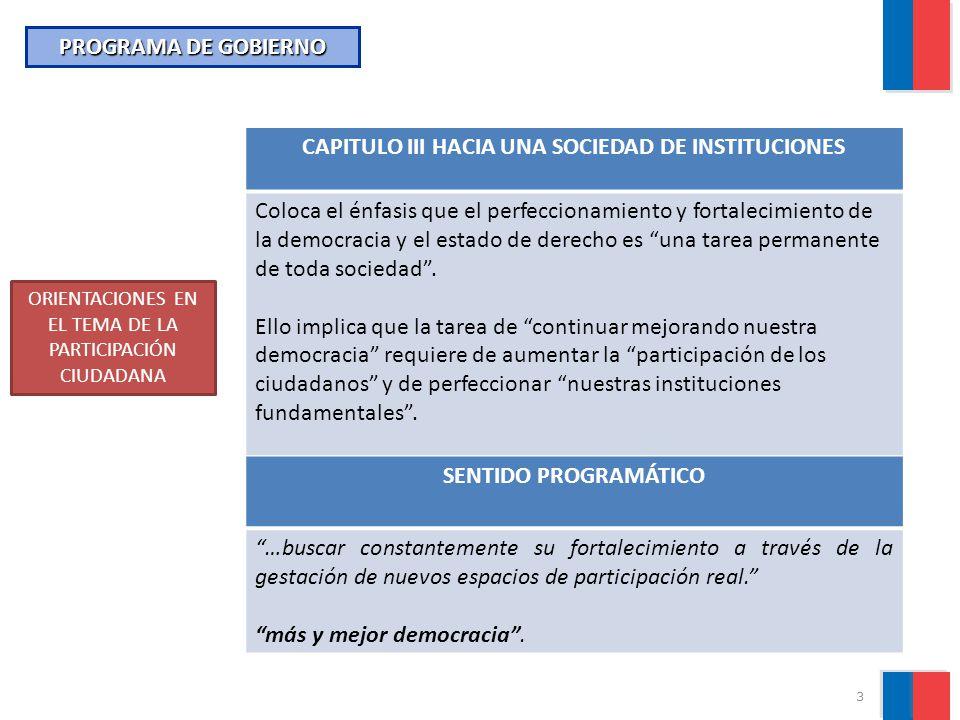 CAPITULO III HACIA UNA SOCIEDAD DE INSTITUCIONES