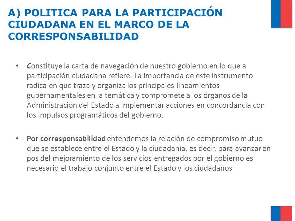 A) POLITICA PARA LA PARTICIPACIÓN CIUDADANA EN EL MARCO DE LA CORRESPONSABILIDAD
