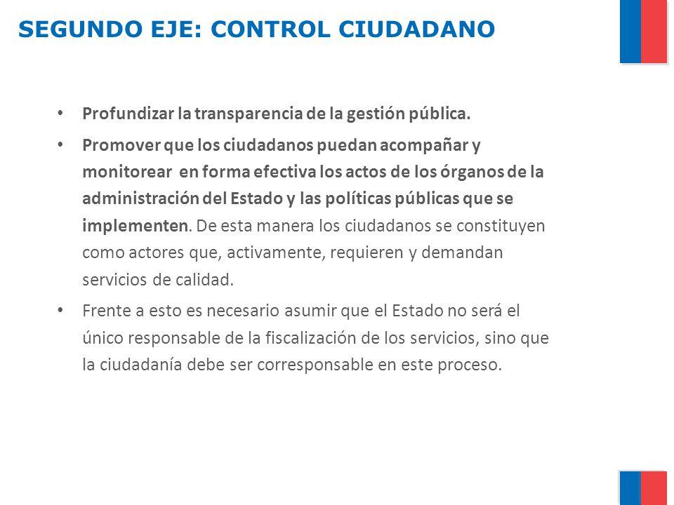 SEGUNDO EJE: CONTROL CIUDADANO
