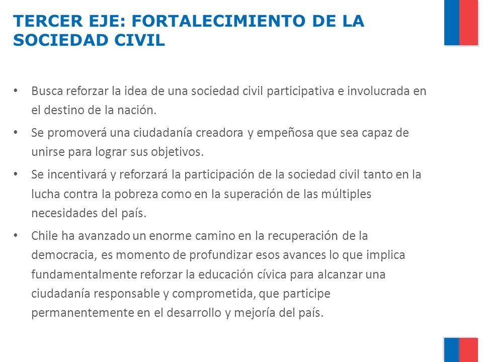 TERCER EJE: FORTALECIMIENTO DE LA SOCIEDAD CIVIL