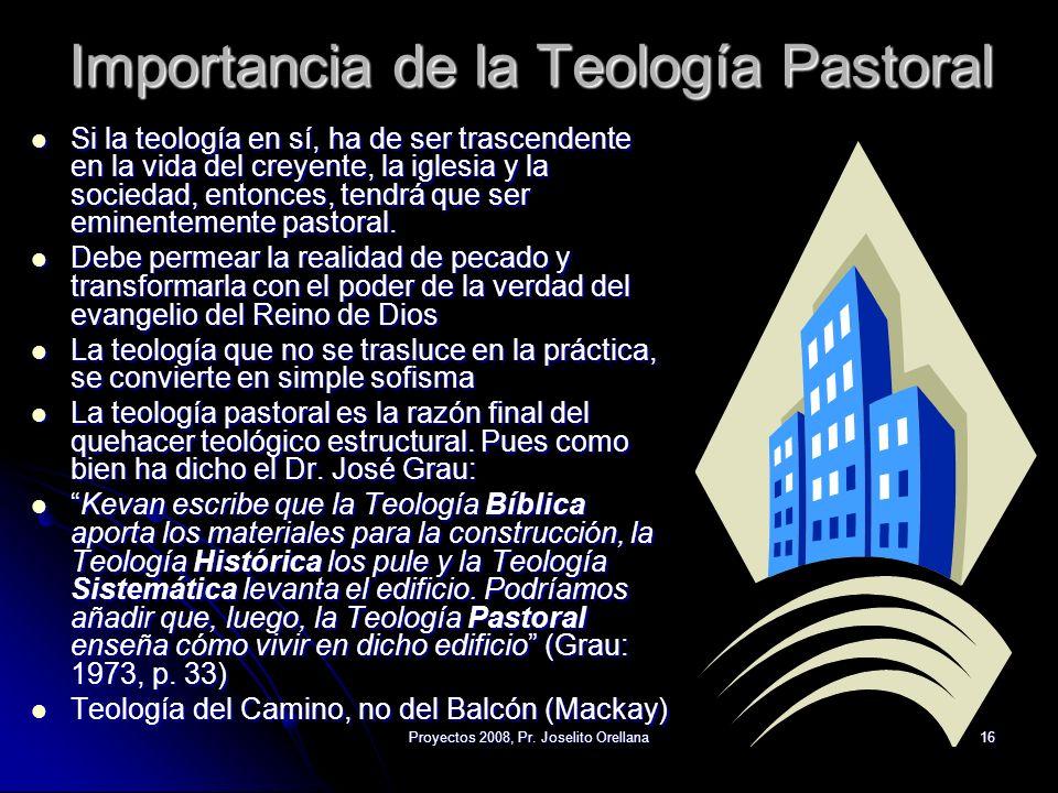 Importancia de la Teología Pastoral