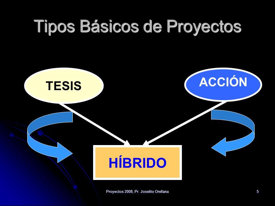 Tipos Básicos de Proyectos