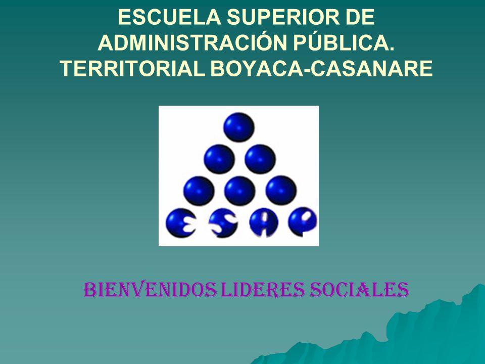 BIENVENIDOS LIDERES SOCIALES