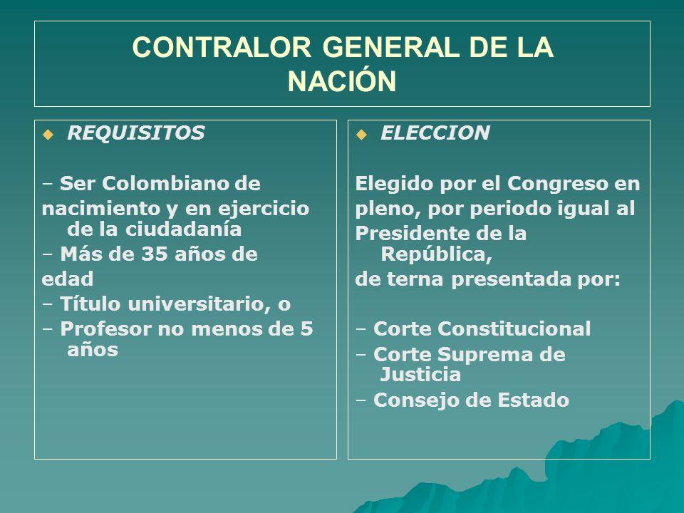 CONTRALOR GENERAL DE LA NACIÓN