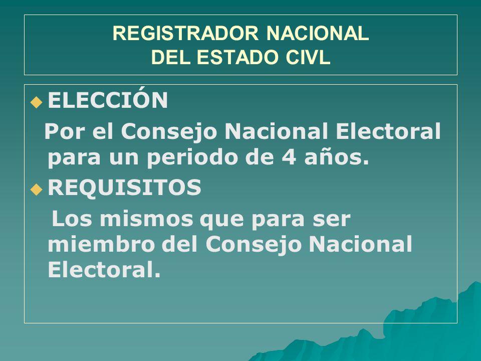 REGISTRADOR NACIONAL DEL ESTADO CIVL