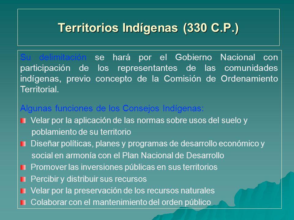 Territorios Indígenas (330 C.P.)