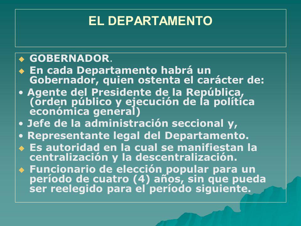 EL DEPARTAMENTO GOBERNADOR.