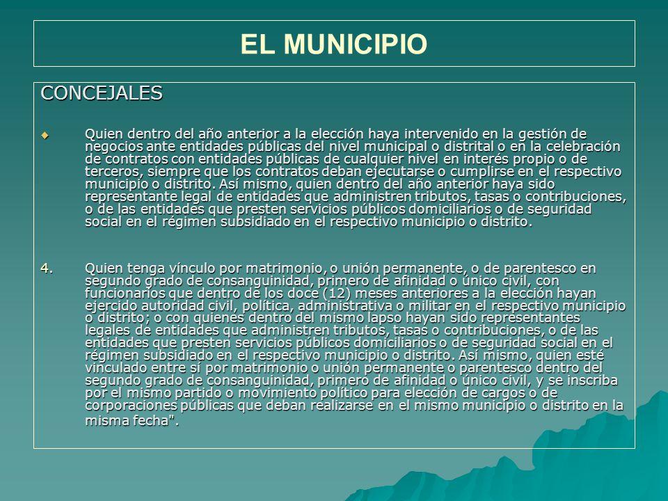 EL MUNICIPIO CONCEJALES