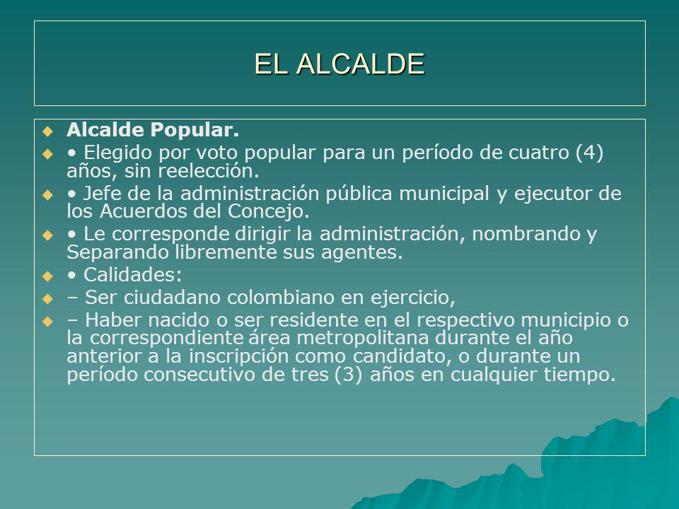 EL ALCALDE Alcalde Popular.