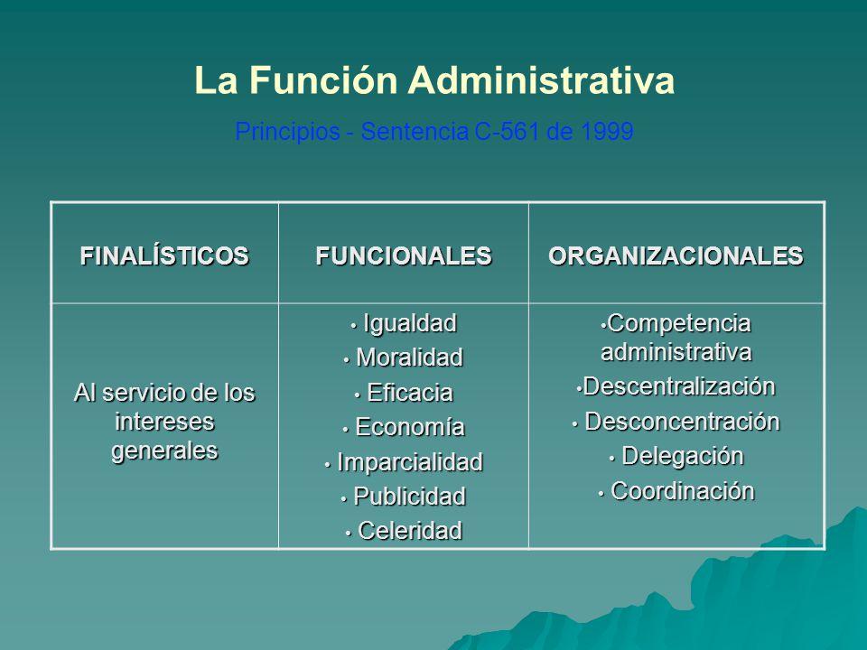 La Función Administrativa