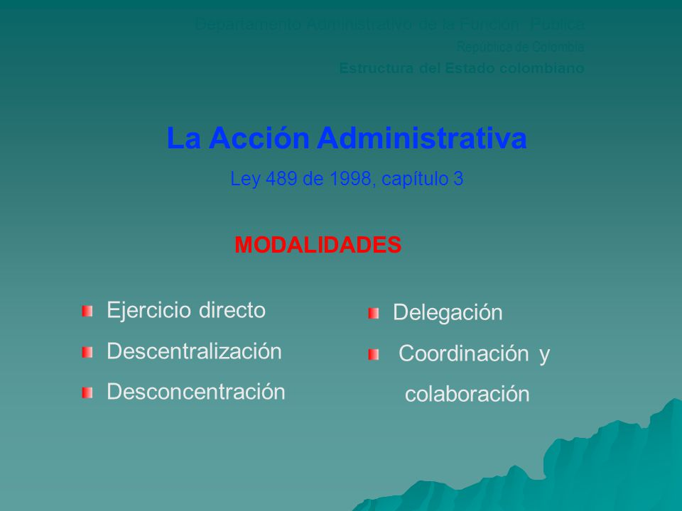 La Acción Administrativa