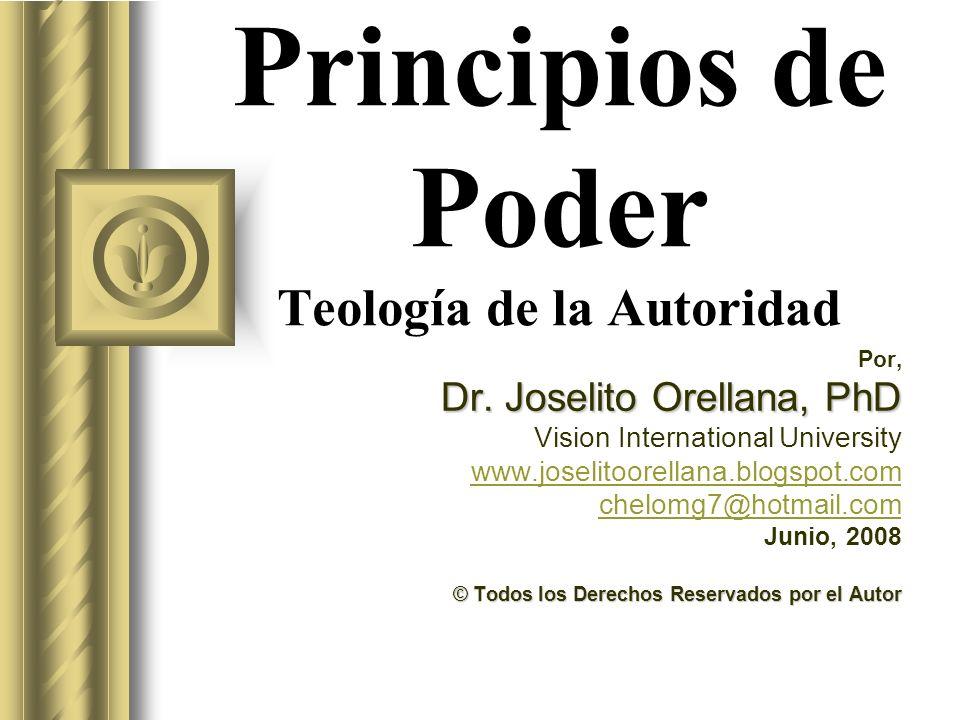 Principios de Poder Teología de la Autoridad