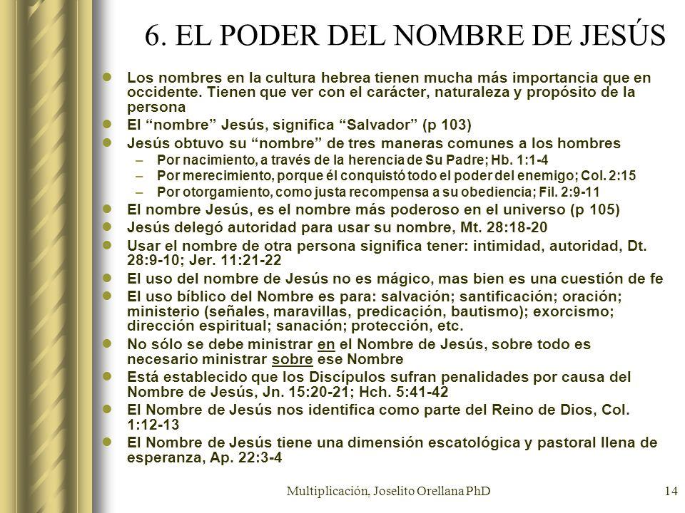 6. EL PODER DEL NOMBRE DE JESÚS