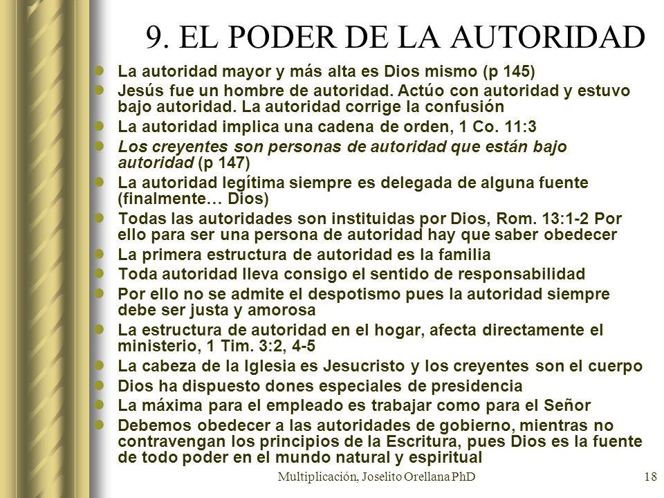 9. EL PODER DE LA AUTORIDAD