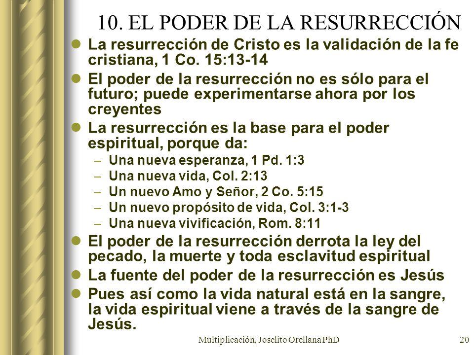 10. EL PODER DE LA RESURRECCIÓN