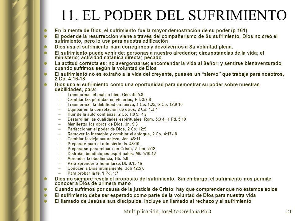 11. EL PODER DEL SUFRIMIENTO