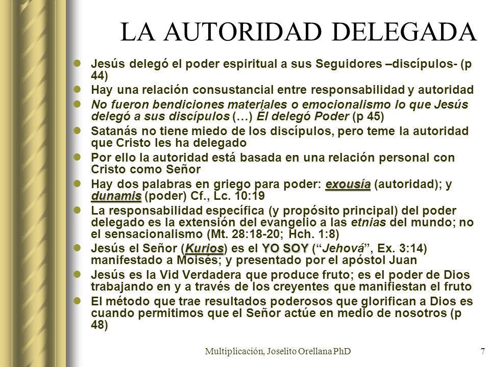 Multiplicación, Joselito Orellana PhD