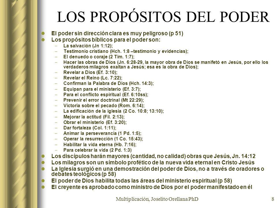 LOS PROPÓSITOS DEL PODER